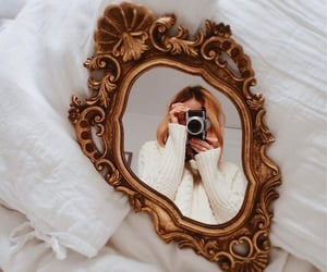 mirror, aesthetics, and blonde image