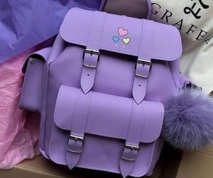 backpack and hearts image