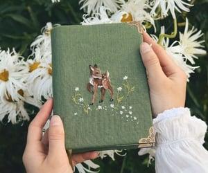 deer, flowers, and green image