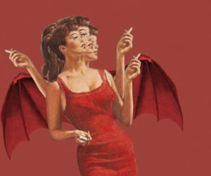 Devil, red, and vintage image
