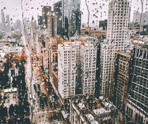 city, rain, and travel image