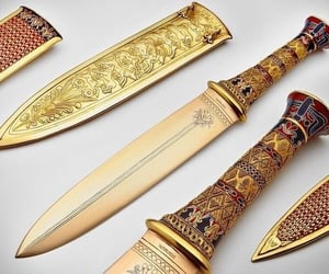 knife, gold, and aesthetic image