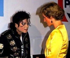 michael jackson, icon, and princess diana image