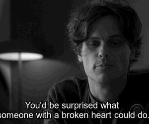 black&white, broken heart, and criminal minds image