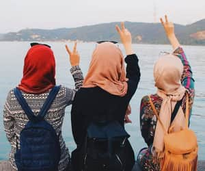 besties, bff, and hijab image