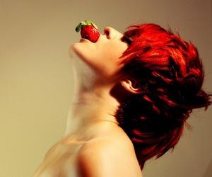 galaxy, strawberry, and haircut image