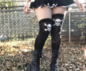 archive, goth, and skulls image