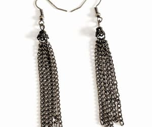 steampunk, vintage jewelry, and chain earrings image