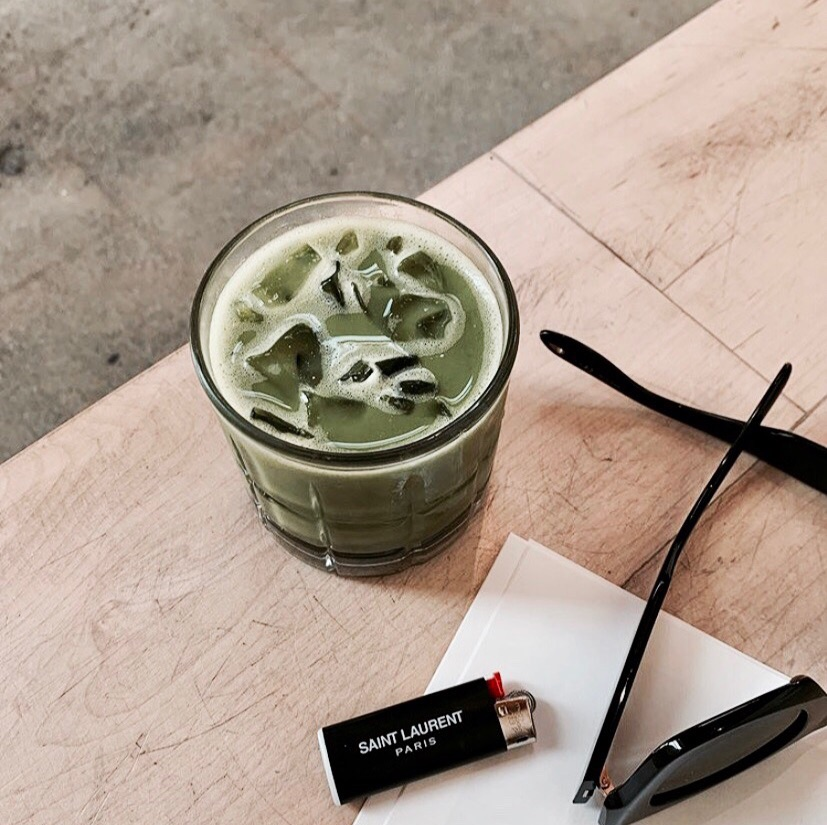 article, green tea, and food image