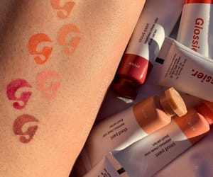 makeup, swatches, and glossier image