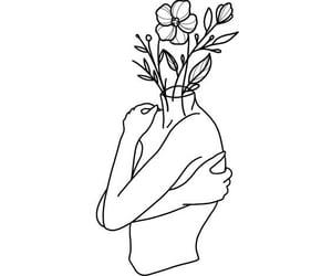 art, flowers, and hug image