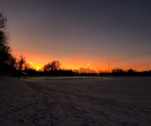 cold, red sky, and sky image