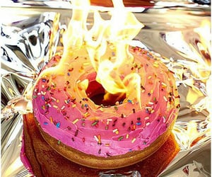 burning, donuts, and sweets image