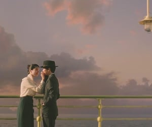 romance, sunset, and korean movie image