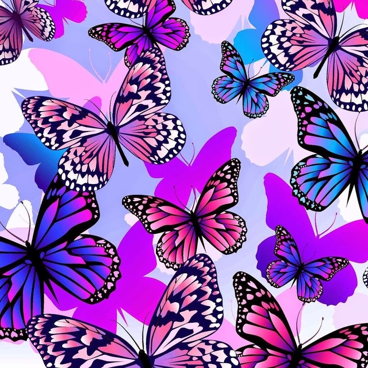 butterfly, purple, and wallpaper backgrounds image