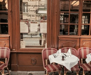 paris, cafe, and restaurant image