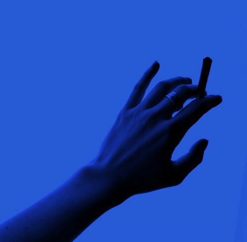 blue, cigarette, and smoke image