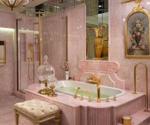 bathroom, Dream, and gold image