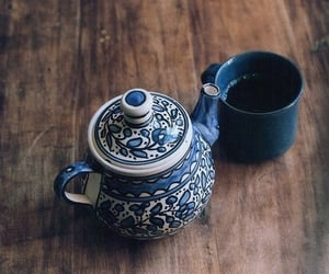 tea, vintage, and blue image
