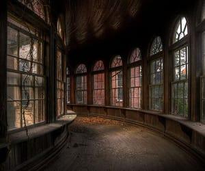 corridor, old, and dark image