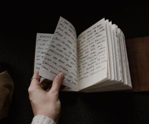 book, dark, and journal image