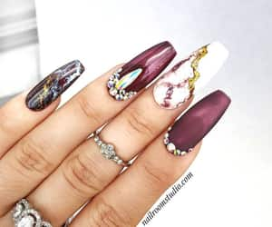etsy, strip false nails, and glue on silver nails image