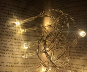 book, fairylights, and inspirational image