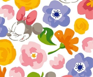 background, disney, and flowers image