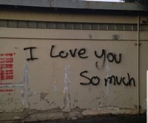 love, wall, and I Love You image