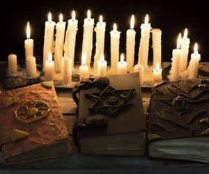 candles, pagan, and ritual image