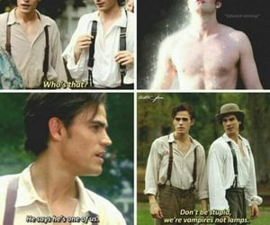 tvd, damon, and stefan image