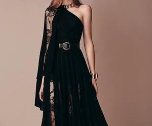 black dress, dress, and elie saab image