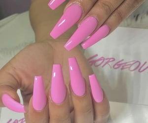 nails, nails art, and pink image