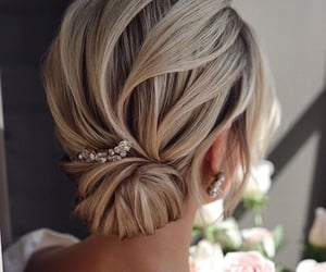 bun, hair piece, and hairstyle image
