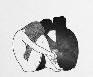 deep, emotional, and galaxy image