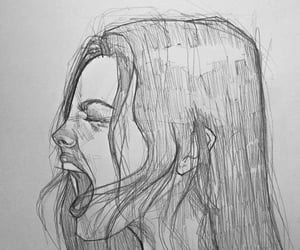 art, drawing, and emotion image
