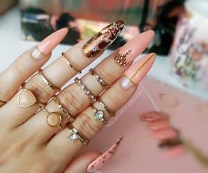 long nails, designer nails, and etsy image