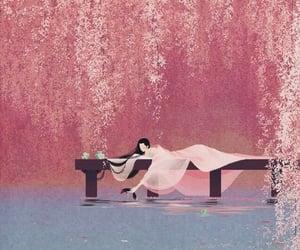 background, japan, and sakura image