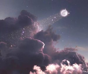 wallpaper, sky, and moon image