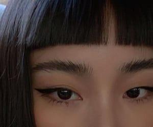 bangs, girl, and asian image