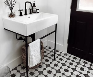bathroom, style, and chic image