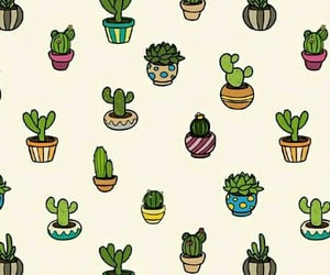 wallpaper, cactus, and pattern image