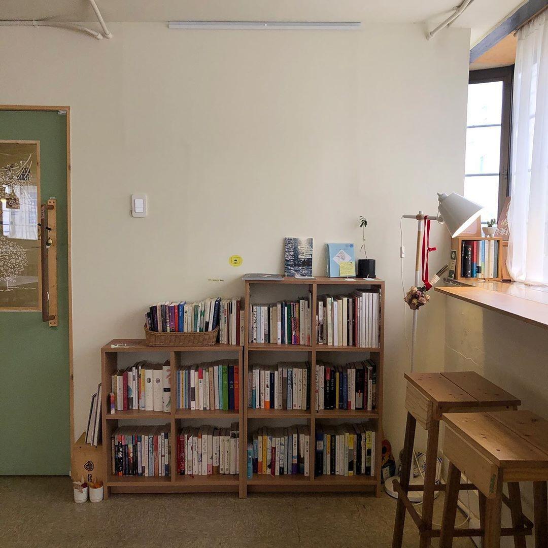 books, bookshelf, and cafe image
