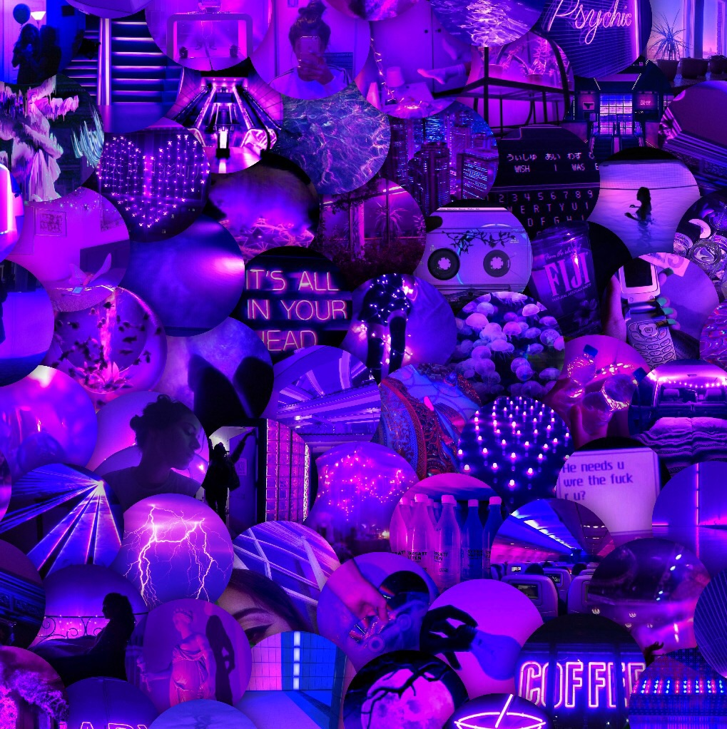 Neon Purple Collage Free To Use On We Heart It