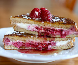 food, raspberry, and french toast image
