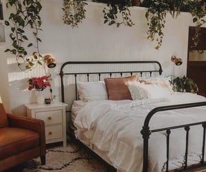 home, bedroom, and plants image