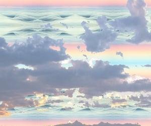 sky, pastel, and rainbow image