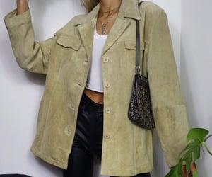 black, biege, and jacket image