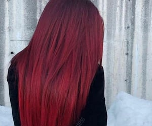 red, hair color, and fiery red image