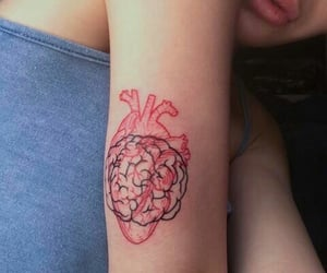 heart, tattoo inspiration, and brain image